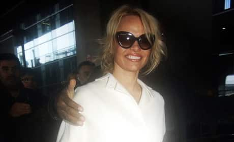 Pamela Anderson Arrives at Charles de Gaulle Airport