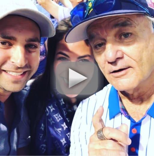 Bill murray helps cubs fans announce pregnancy watch cheer
