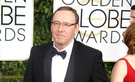 Kevin Spacey at the Golden Globes