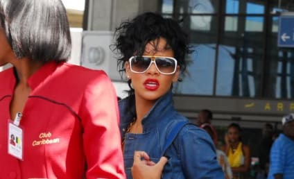 Rihanna Arrives Home in Barbados