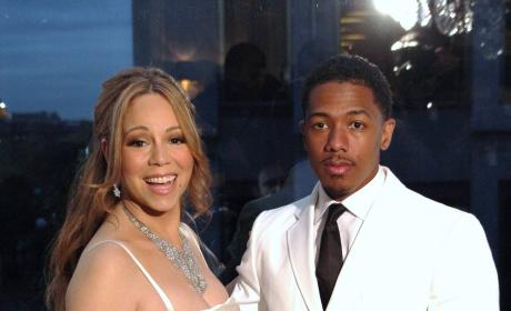 Mariah Carey and Nick Cannon in Paris