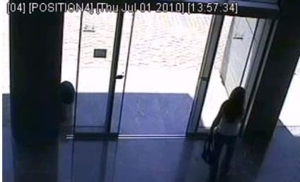 Girl Tries, Fails to Negotiate Sliding Glass Door