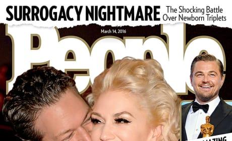 Blake Shelton, Gwen Stefani People Cover
