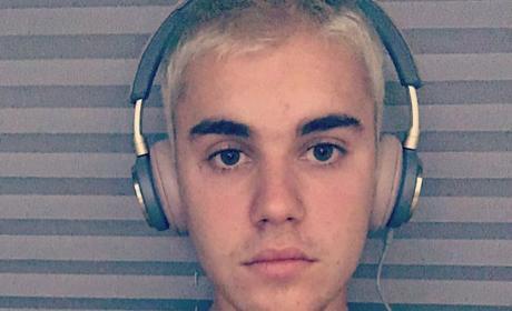 Justin Bieber with Earphones