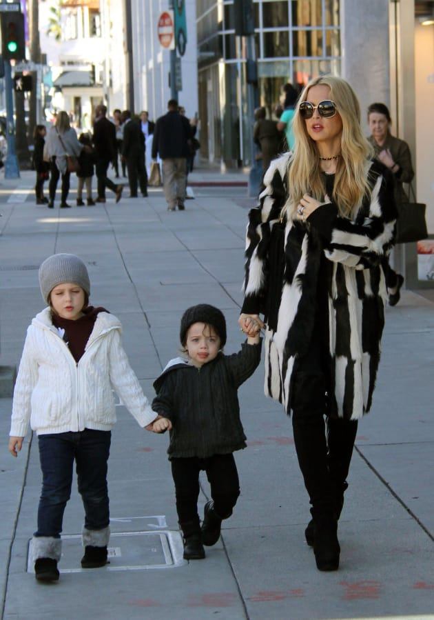 Rachel Zoe Takes Her Boys Out In Beverly Hills