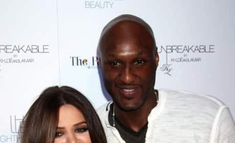 Khloe Kardashian and Lamar Odom Photograph