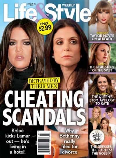 Khloe Kardashian and Bethenny Frankel Cover