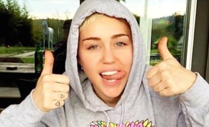 Miley Cyrus: Rocks Long Hair (Extensions), Major Cleavage on Instagram!