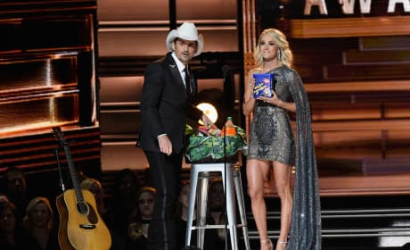 Carrie Underwood and Brad Paisley's Bag of Deplorables at the 2016 CMAs