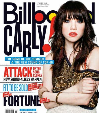 Carly Rae Jepsen Billboard Magzine Cover
