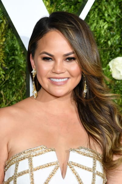 Chrissy Teigen at the Tony Awards