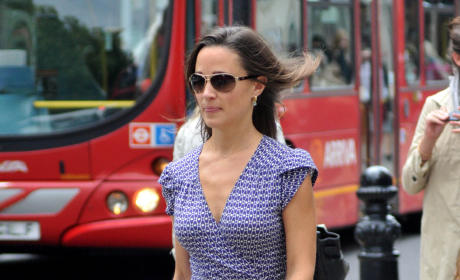 Pippa Middleton, Blue Dress