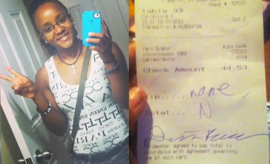 Red Lobster Waitress Receives Racist Note on Receipt; Story Goes Viral - The Hollywood Gossip