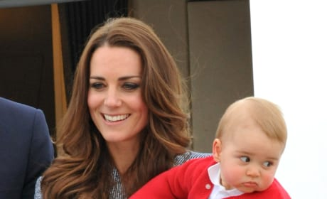 Kate Middleton and Prince George Say Goodbye To Australia