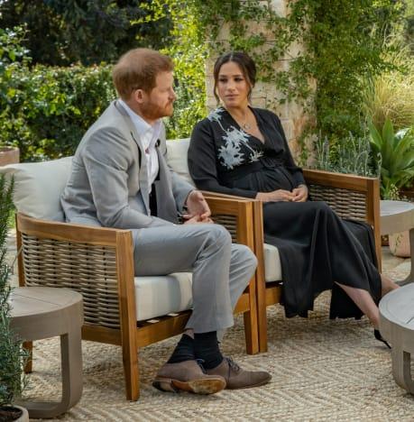 Prince Harry and Meghan Markle on CBS