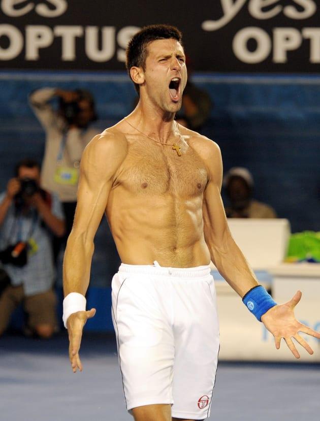 Novak Djokovic Shirtless