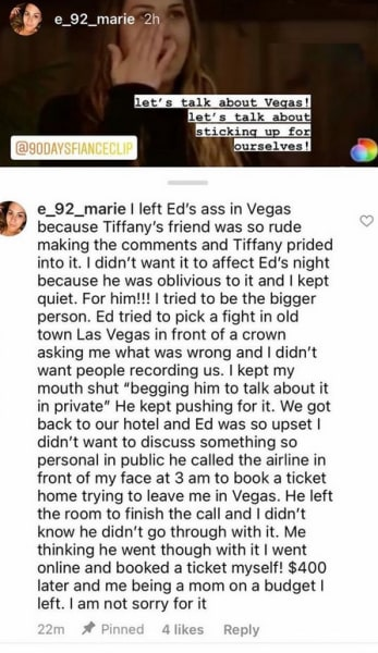 Liz Marie IG - why I left big ed brown in Vegas