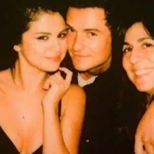 Selena Gomez with Orlando Bloom