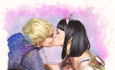 Miley and Katy Kiss