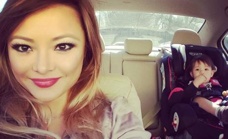 Tila Tequila in Her Car