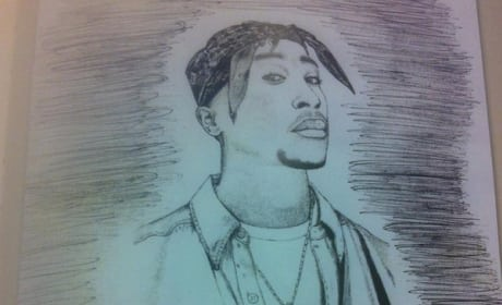 Eminem's Sketch of Tupac