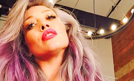 Hilary Duff with Pink Hair