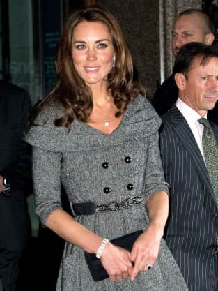 Kate Middleton, Grey Dress