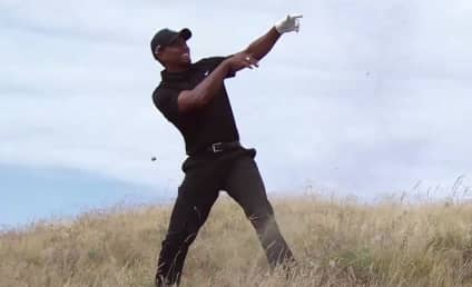 """Tiger Woods Faces """"Cheater"""" Banner, Awful U.S. Open Round"""