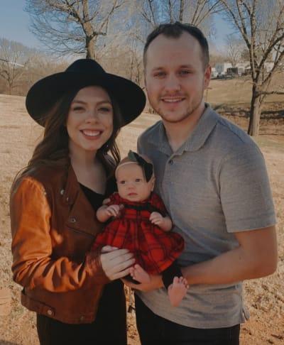 Josiah and Lauren Duggar with Baby Bella