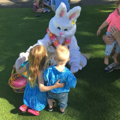 Kids and Bunny