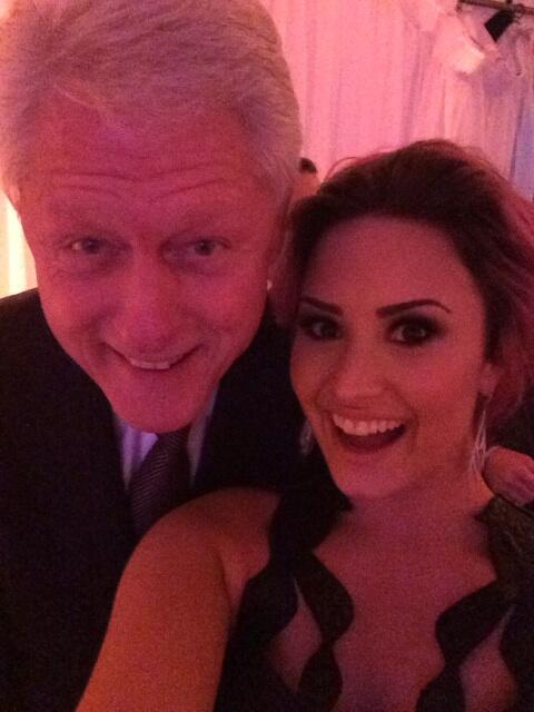 Bill Clinton and Demi Lovato