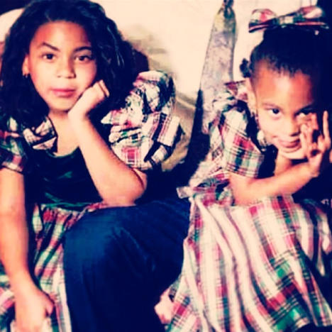 Solange and Beyonce as Kids