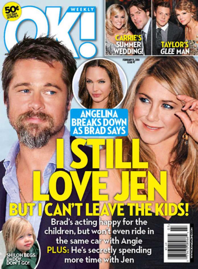 Brad Pitt I Love Jennifer Aniston According To Ok The