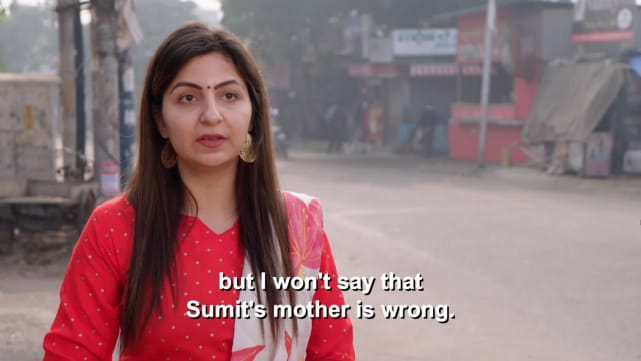 Deepali but i wont say that sumits mother is wrong