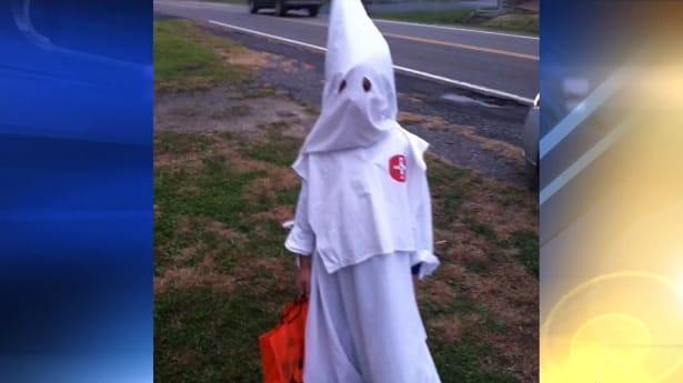 Kid Dressed as KKK Member