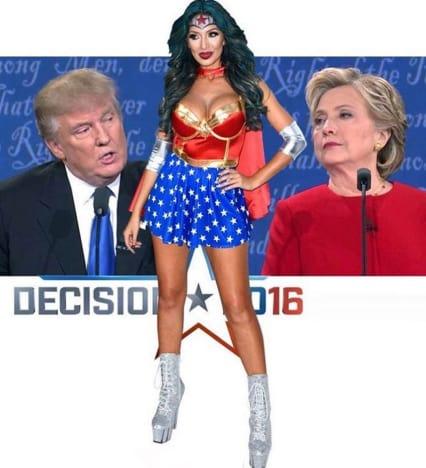 Farrah Abraham Supports Donald Trump Photo
