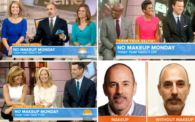 Savannah guthrie and matt lauer no makeup