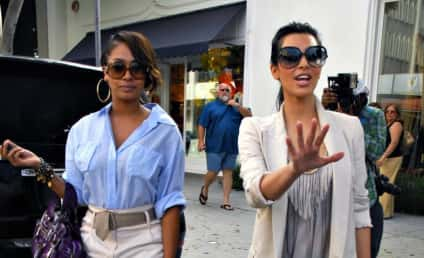 Kim Kardashian and LaLa Vazquez: Out and About