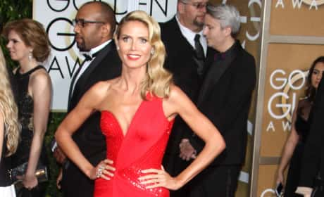 Heidi Klum at the Golden Globe Awards