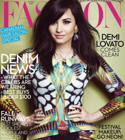 Demi lovato fakes with