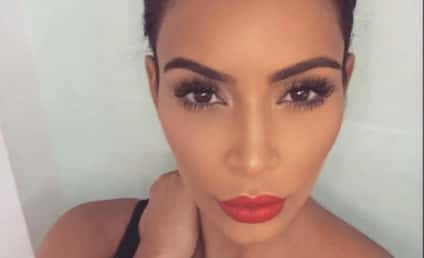 Kim Kardashian Posts Cleavage Close-Up, Complains About Feeling Like Crap