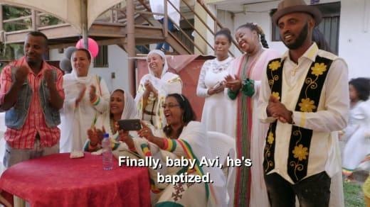 Wish Shibre - finally, baby Avi is baptised