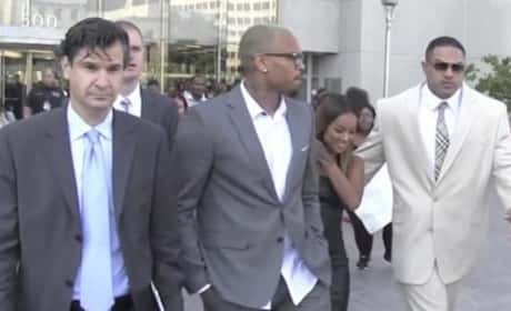 Chris Brown Leaves Court