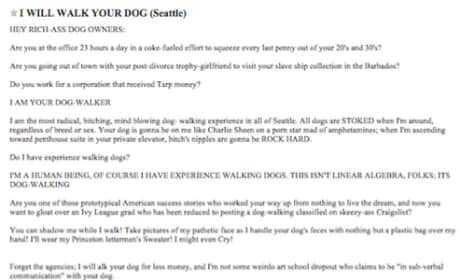 Dog Walker Craigslist Ad