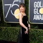 Dakota Johnson at the Globes