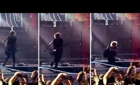 Michael Clifford Plummets Off Stage in Concert: OUCH!