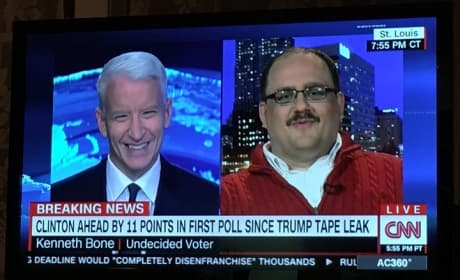 Ken Bone and Anderson Cooper