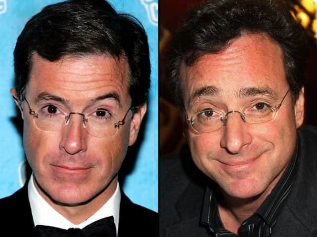 Stephen Colbert and Bob Saget