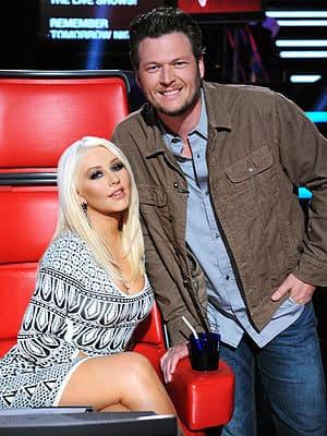 Blake Shelton and Christina Aguilera