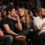 Zac Efron and Halston Sage Lakers Game Photo